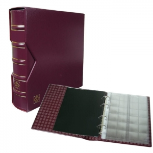 Optima album na 304 monety z etui 10 kart  bordo