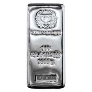 1 kg 2021 Germania Mint srebrna sztabka Ag 999