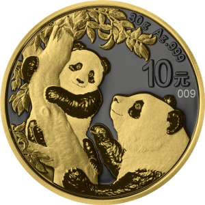 1 oz 2021 Panda chińska Golden Ring 30g